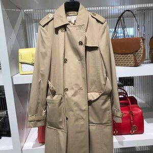 Michael Kors Fashion Button Trench Coat Mid Jacket